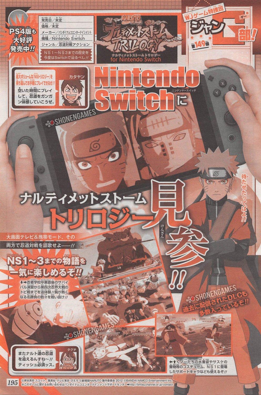 Naruto Shippuden: Ultimate Ninja Storm Trilogy para Switch tiene fecha de lanzamiento para japón