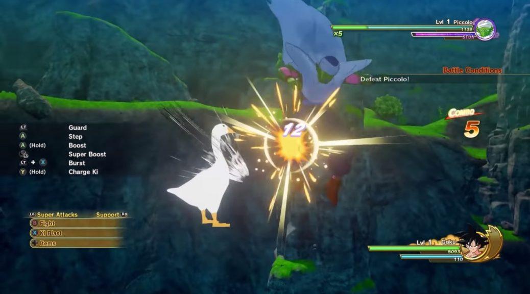 Juega como el ganzo de Untitled Goose Game en Dragon Ball Z Kakarot con este mod