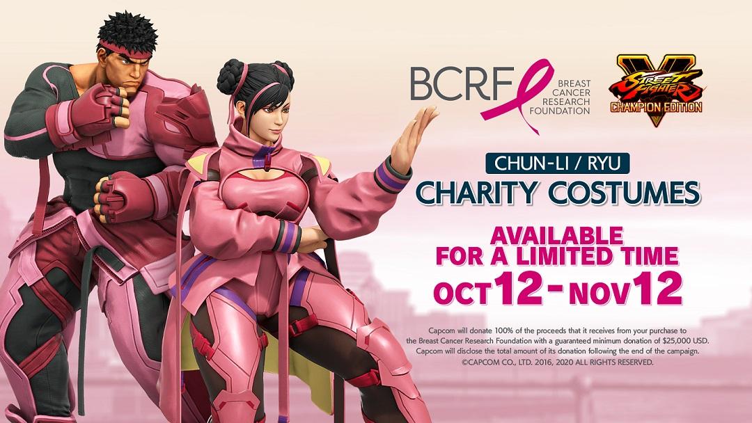 Street Fighter V revela nuevos trajes de beneficencia para apoyar la investigación del cáncer de mama, GamersRD